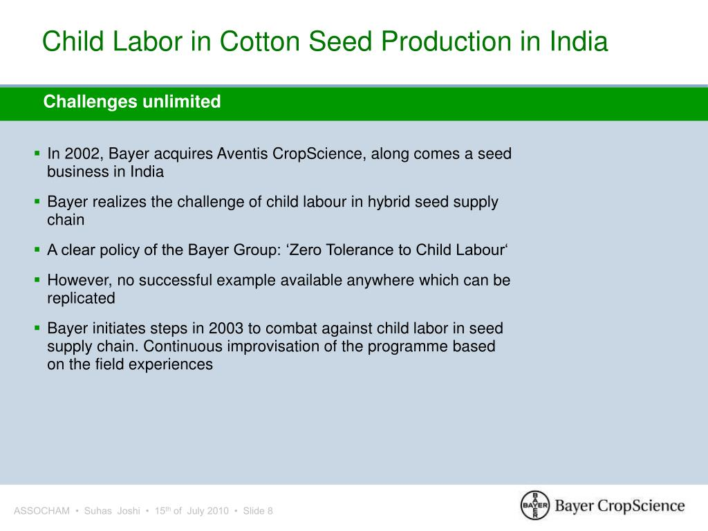Child Labor in Cotton Seed Production in India