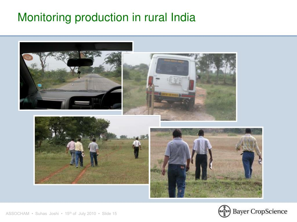Monitoring production in rural India