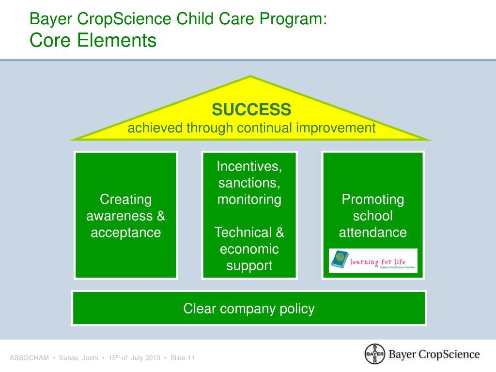 Bayer CropScience Child Care Program: