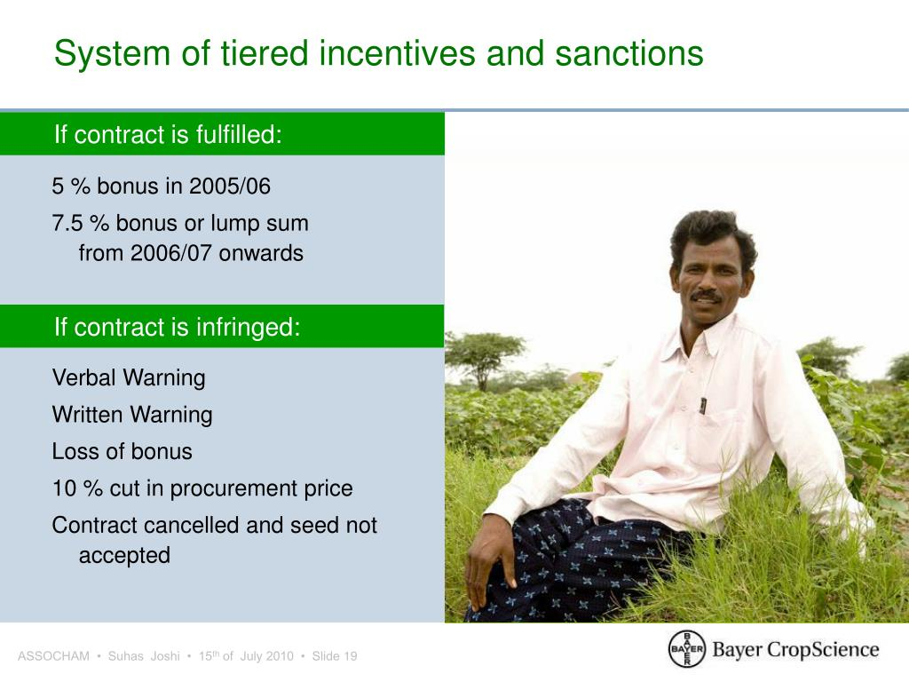 System of tiered incentives and sanctions