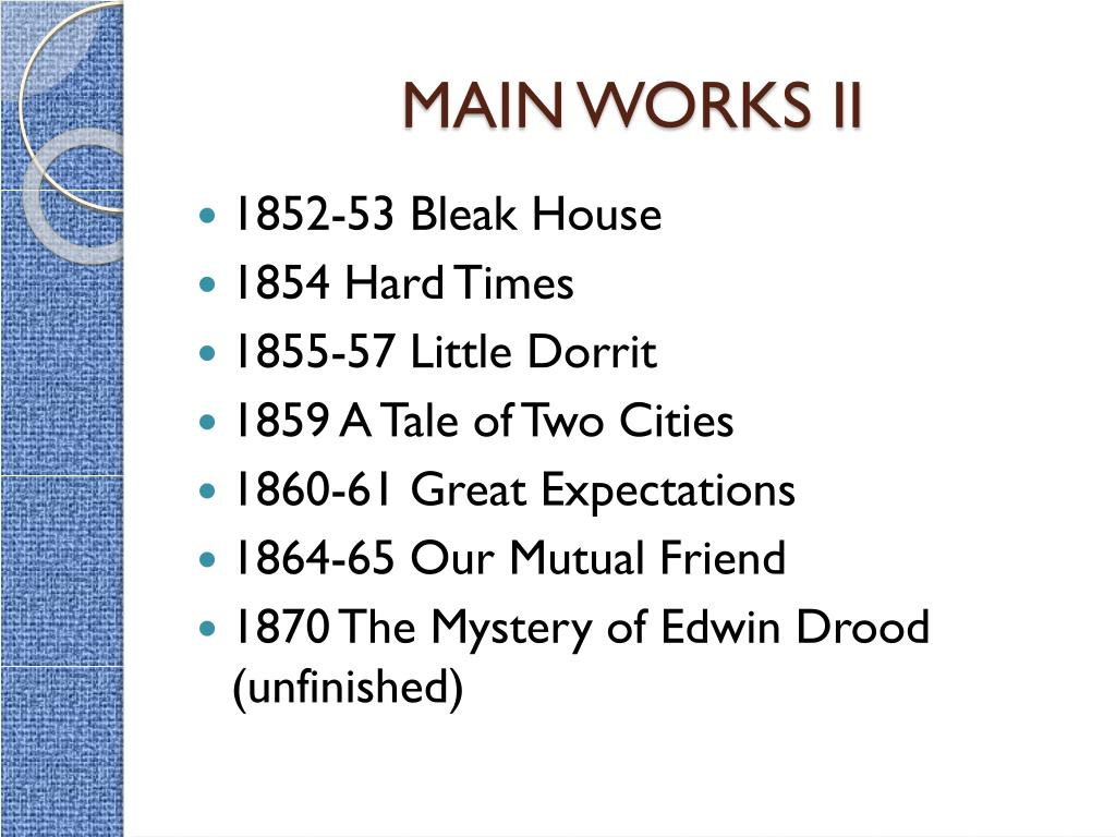 MAIN WORKS II