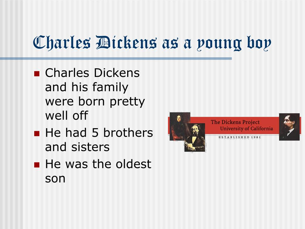 Charles Dickens as a young boy