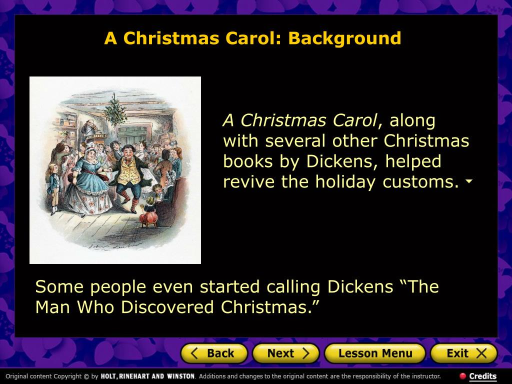 A Christmas Carol: Background
