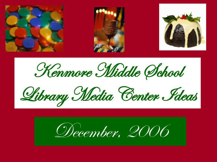 Kenmore middle school library media center ideas