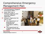 comprehensive emergency management plan