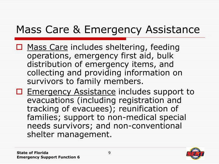 Mass Care & Emergency Assistance
