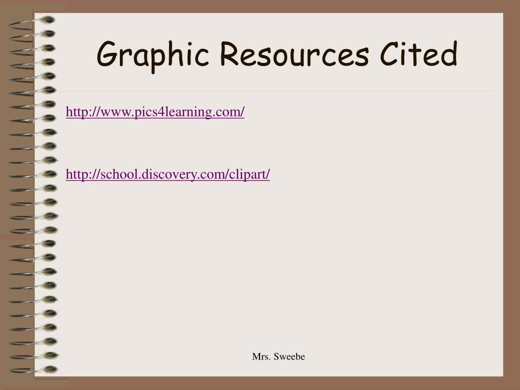 Graphic Resources Cited