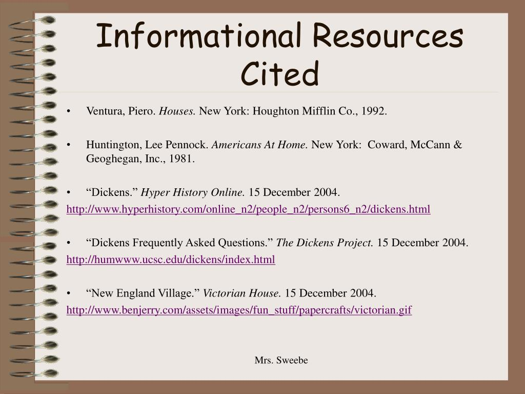 Informational Resources Cited