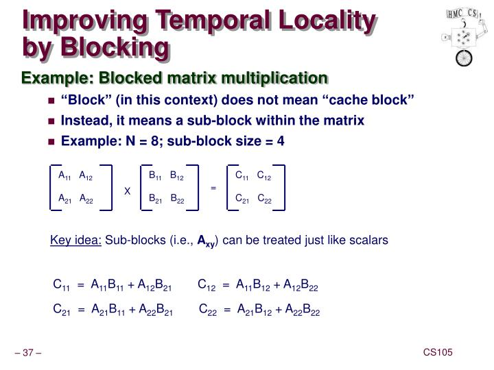 Improving Temporal Locality