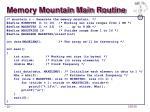 memory mountain main routine