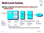 multi level caches