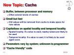 new topic cache