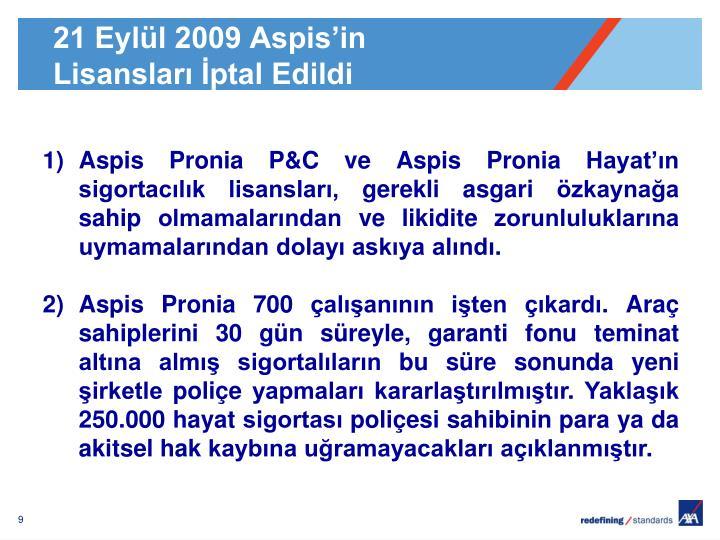 21 Eylül 2009 Aspis'in