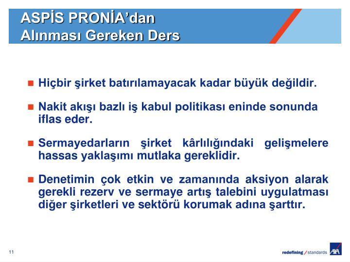 ASPİS PRONİA'dan