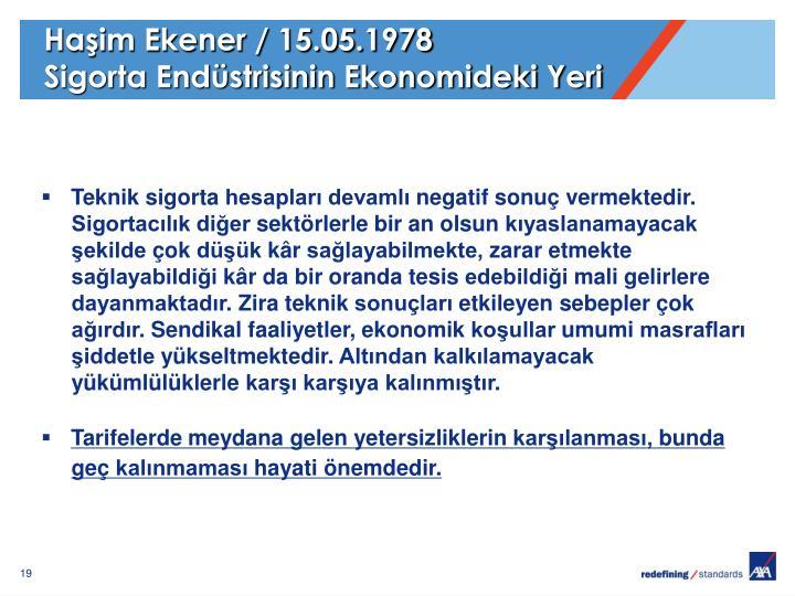 Haşim Ekener / 15.05.1978