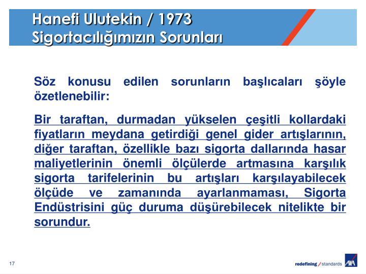Hanefi Ulutekin / 1973