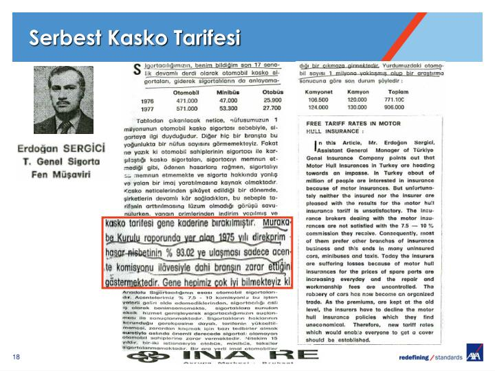 Serbest Kasko Tarifesi