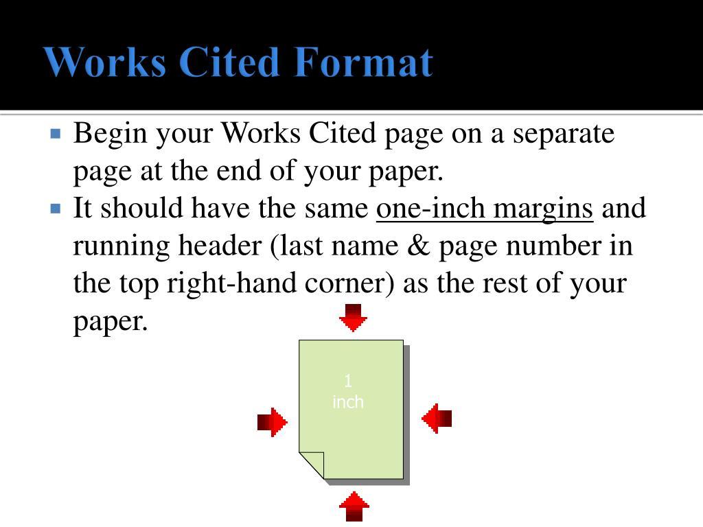 Works Cited Format