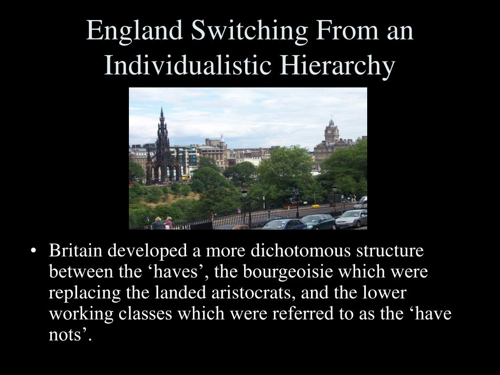 England Switching From an Individualistic Hierarchy