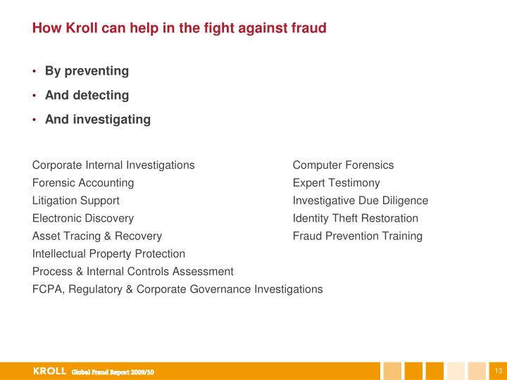 How Kroll can help in the fight against fraud