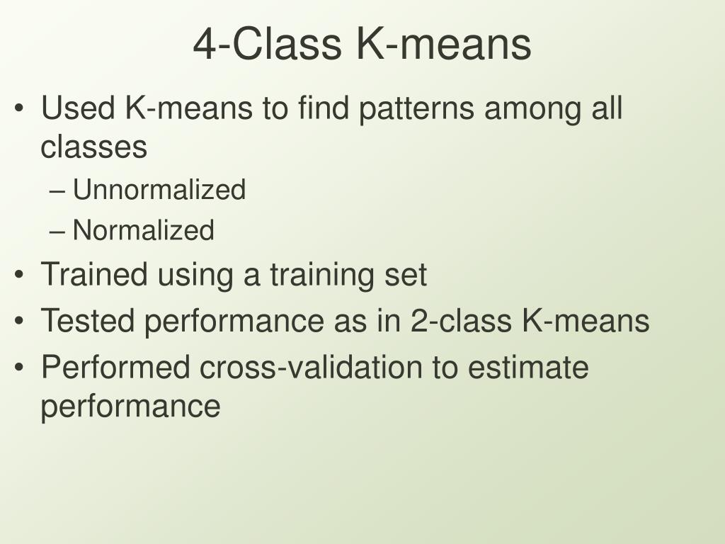 4-Class K-means