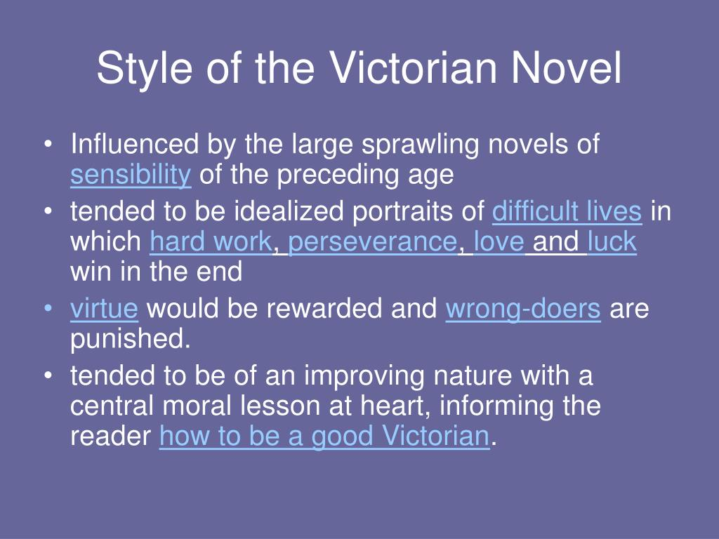 Style of the Victorian Novel