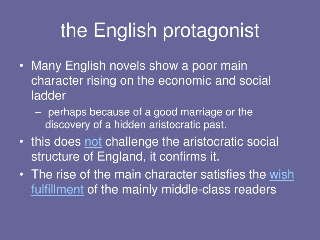 the English protagonist