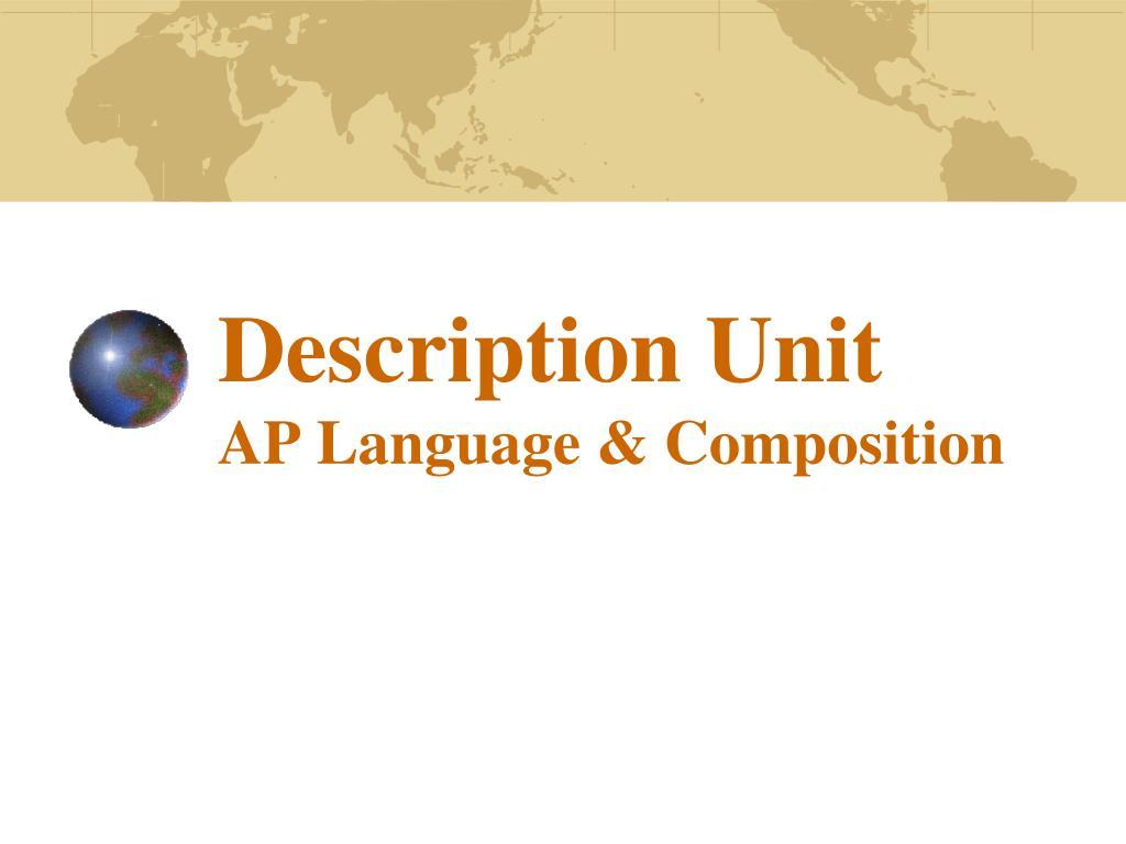 Description Unit