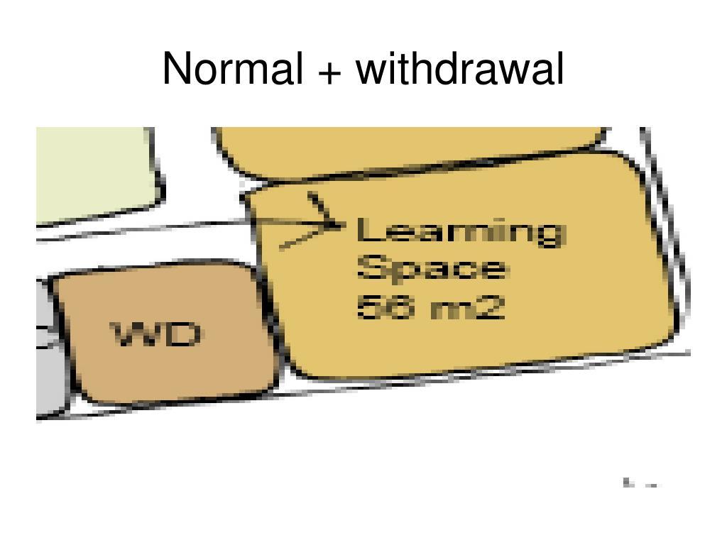 Normal + withdrawal