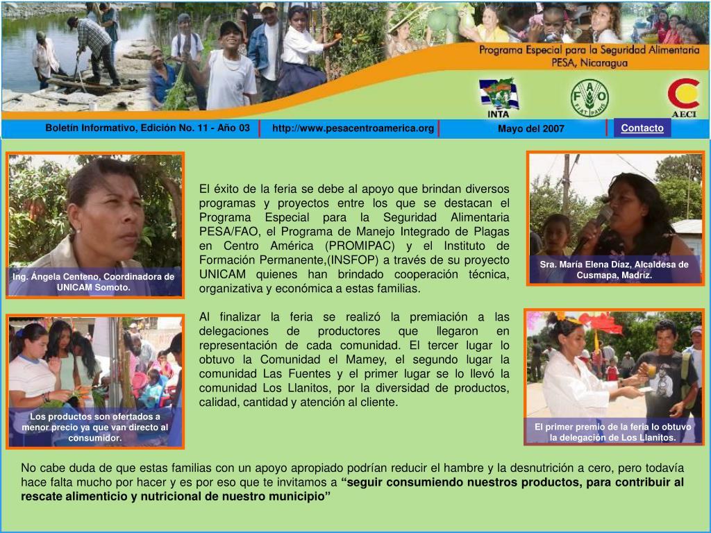 Boletín Informativo, Edición No. 11 - Año 03
