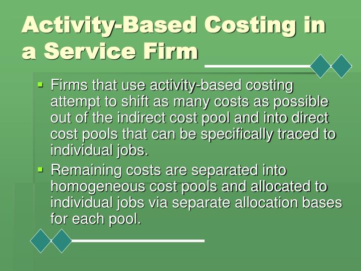 Activity-Based Costing in a Service Firm