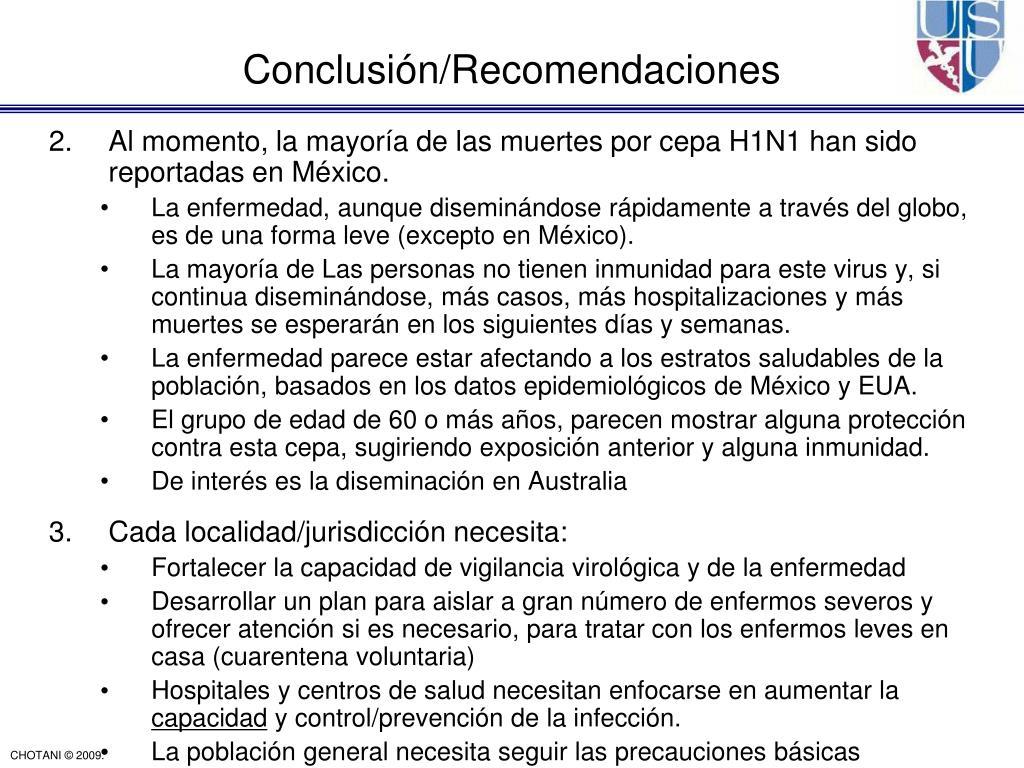 Conclusión/Recomendaciones
