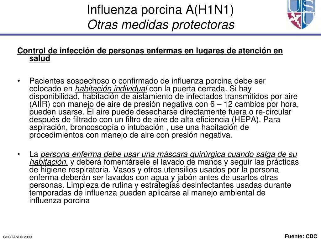 Control de infección de personas enfermas en lugares de atención en salud