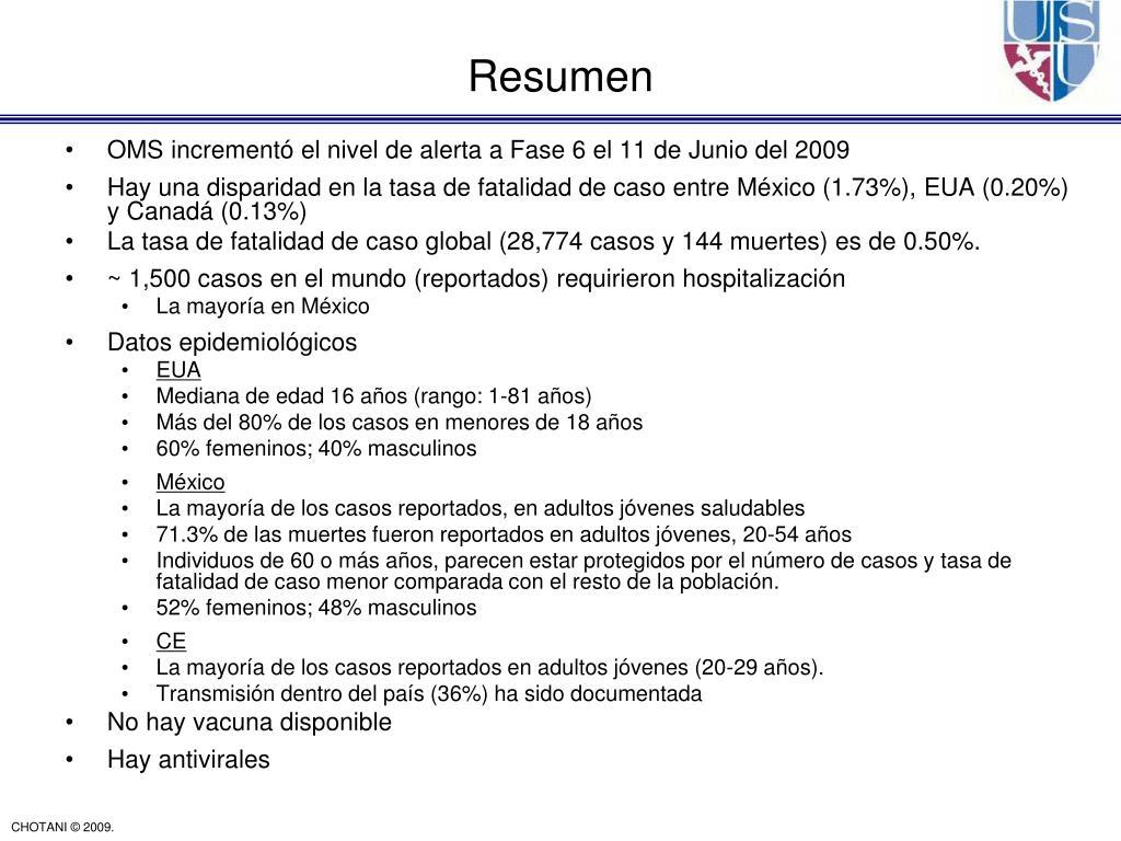 OMS incrementó el nivel de alerta a Fase 6 el 11 de Junio del 2009