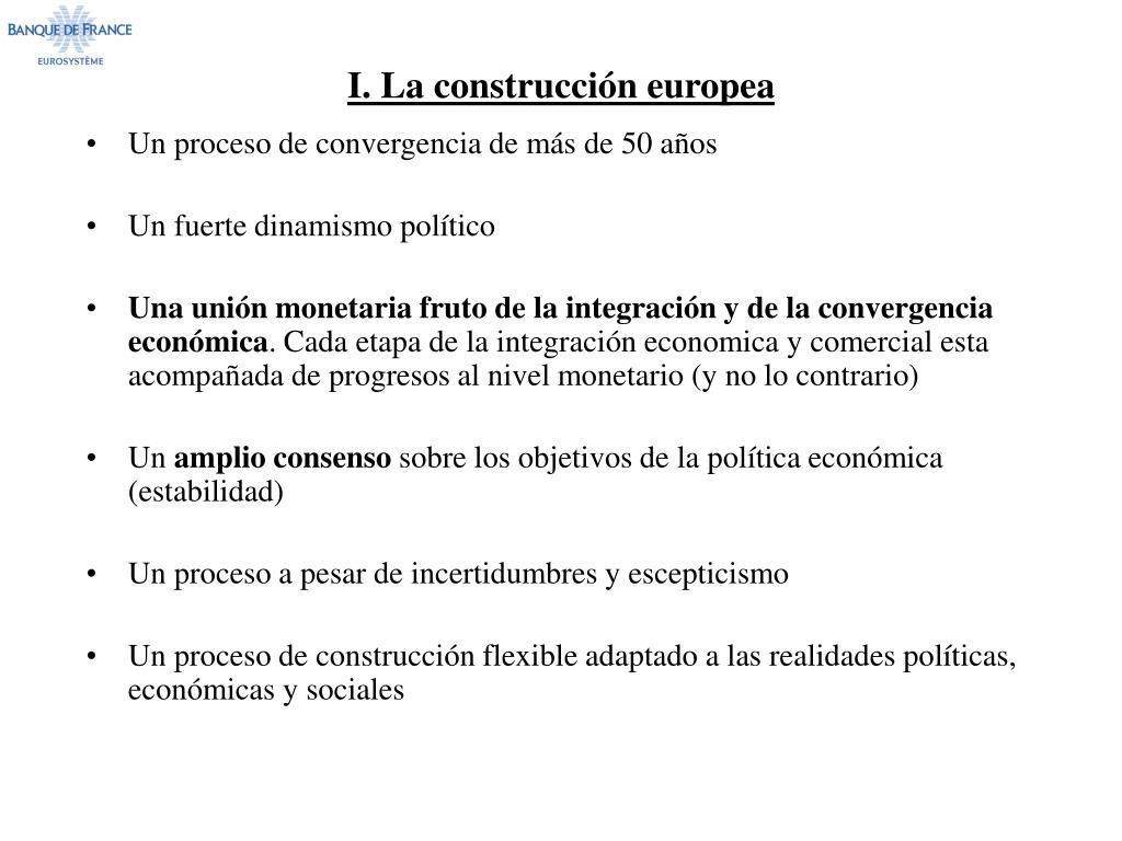 I. La construcción europea
