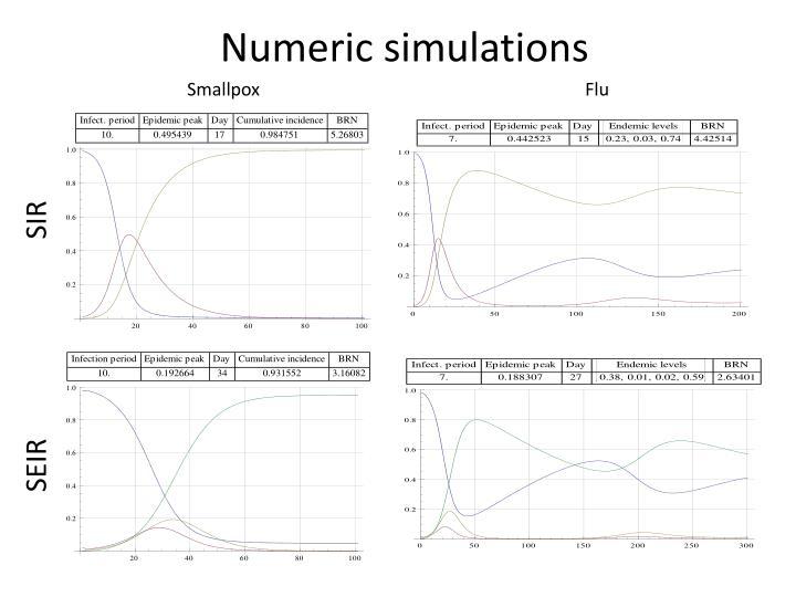 Numeric simulations