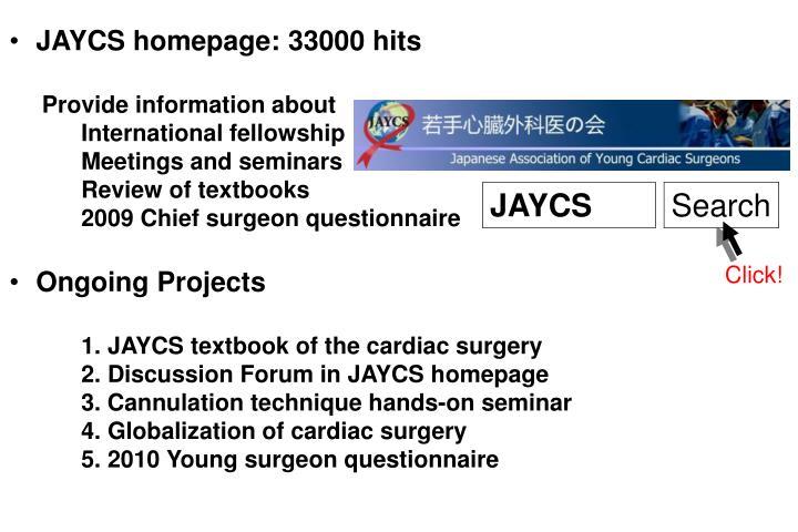 JAYCS homepage: 33000 hits