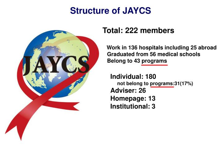 Structure of JAYCS