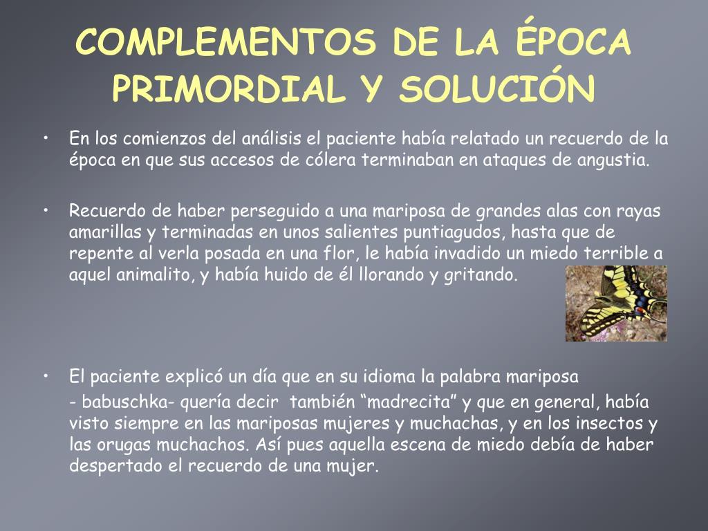 COMPLEMENTOS DE LA ÉPOCA PRIMORDIAL Y SOLUCIÓN