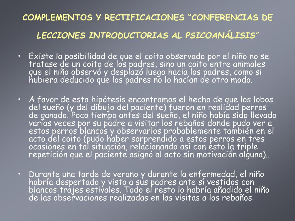 """COMPLEMENTOS Y RECTIFICACIONES """"CONFERENCIAS DE"""