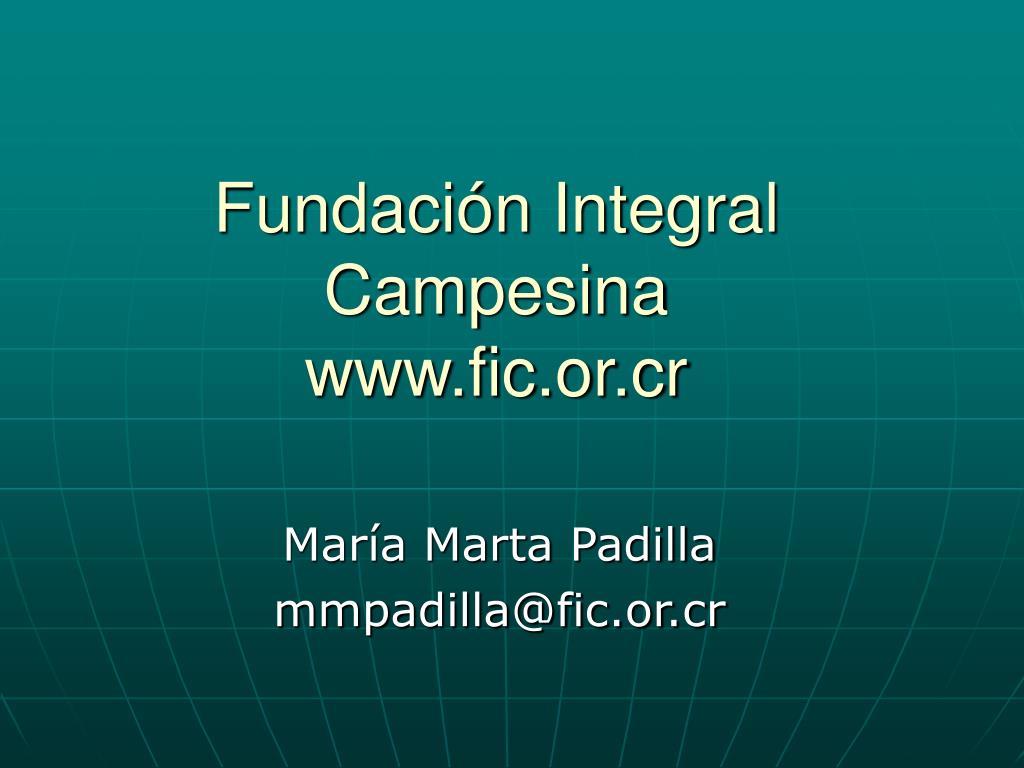 Fundación Integral Campesina