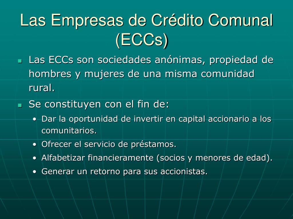 Las Empresas de Crédito Comunal