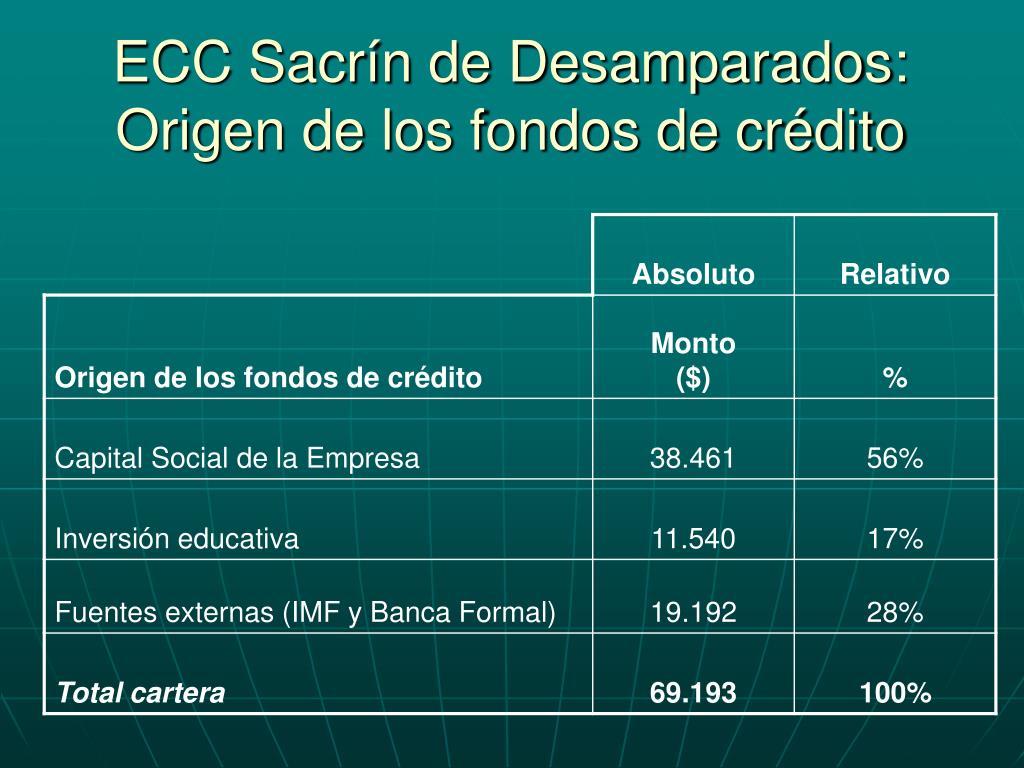 ECC Sacrín de Desamparados: