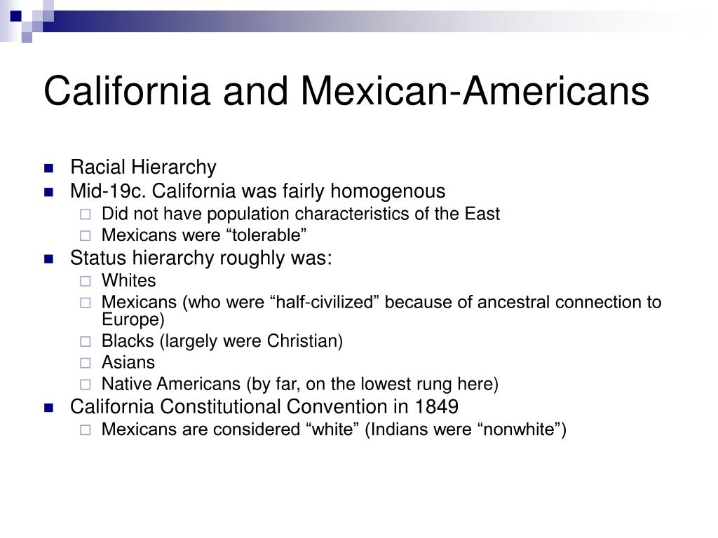 California and Mexican-Americans