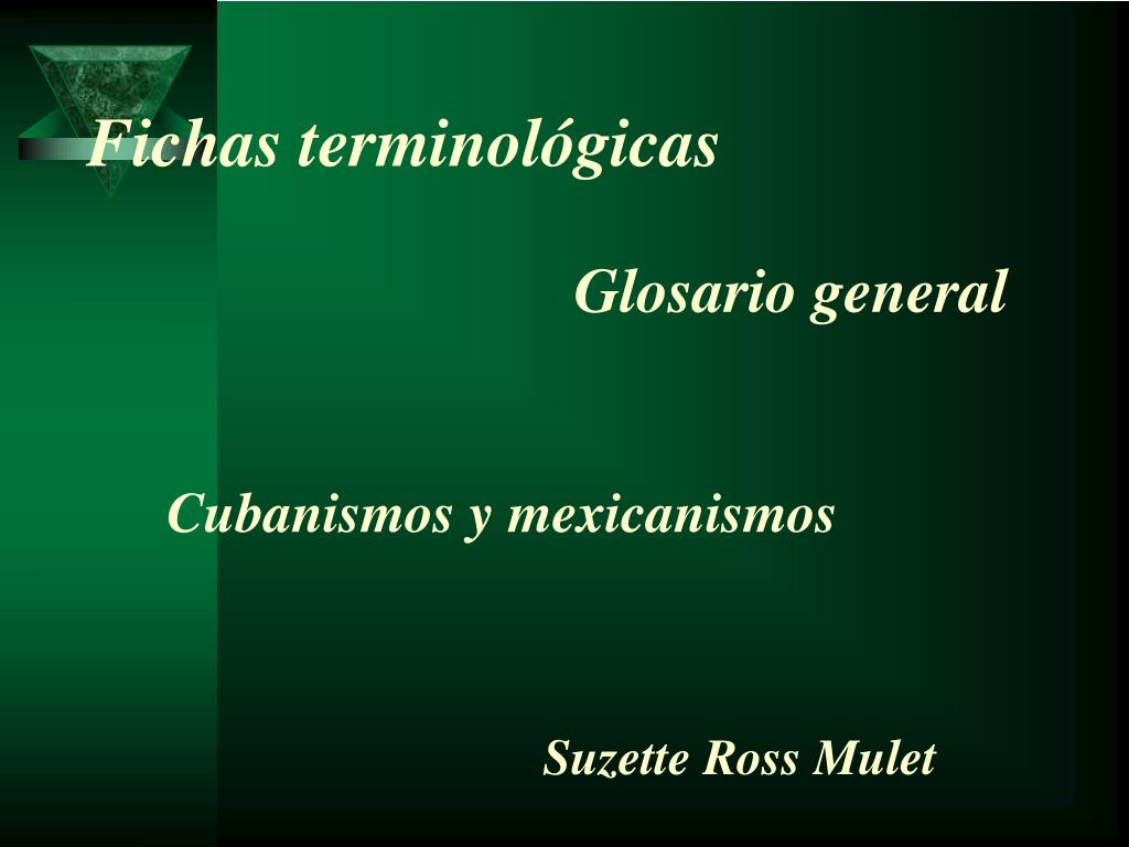 Fichas terminológicas