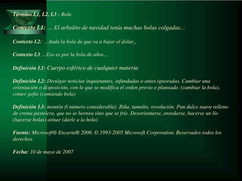 Término L1, L2, L3 :