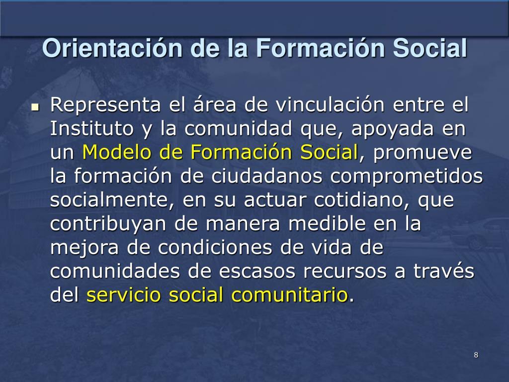 Orientación de la Formación Social