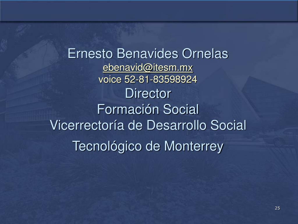 Ernesto Benavides Ornelas