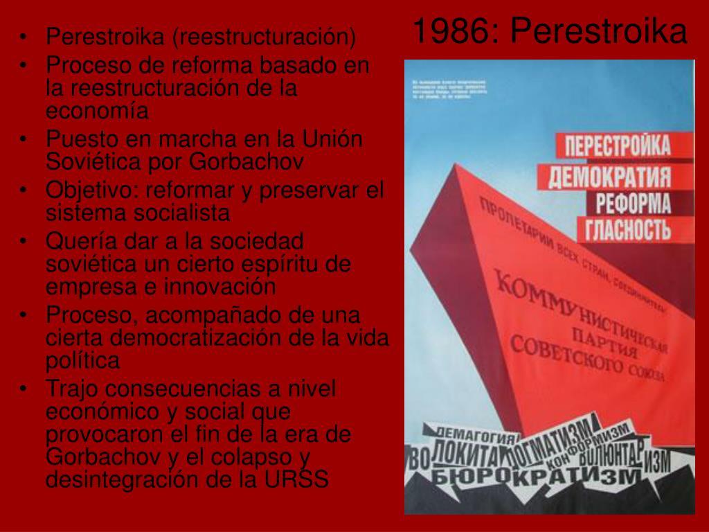 Perestroika (reestructuración)