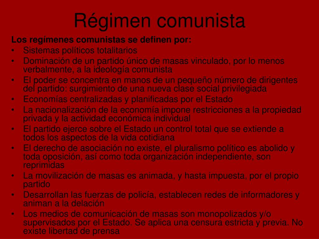 Régimen comunista